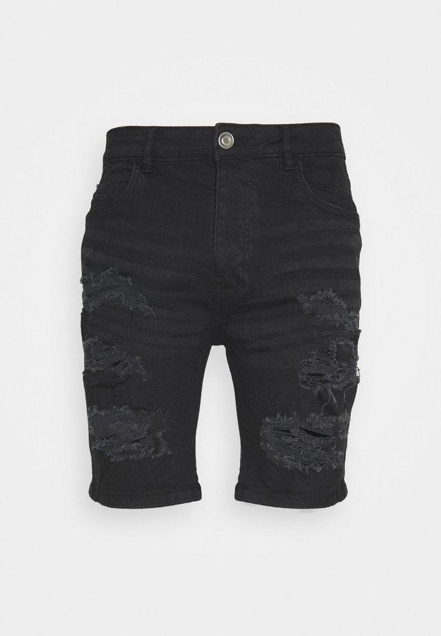 DROGO - Szorty jeansowe - charcoal