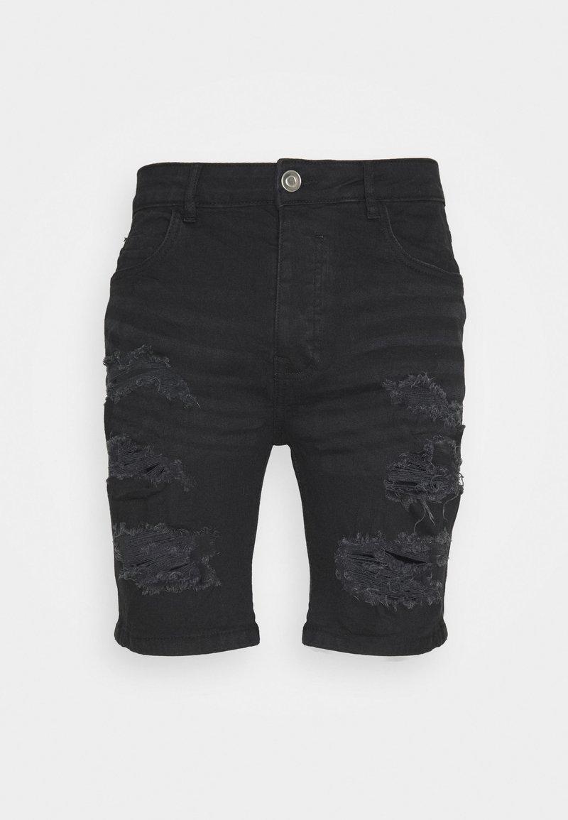 Brave Soul - DROGO - Shorts di jeans - charcoal