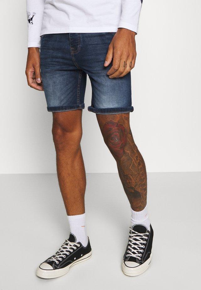 Jeans Shorts - dark blue wash