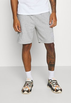 TRISTAN - Tracksuit bottoms - light grey marl/optic white