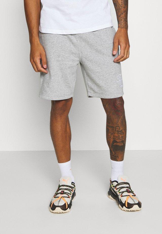 TRISTAN - Spodnie treningowe - light grey marl/optic white