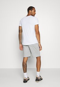 Brave Soul - TRISTAN - Pantalon de survêtement - light grey marl/optic white - 2