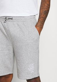 Brave Soul - TRISTAN - Pantalon de survêtement - light grey marl/optic white - 4