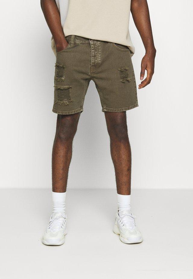 BRATBYRIP - Jeans Shorts - khaki