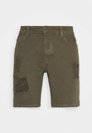 BRATBYRIP - Short en jean - khaki
