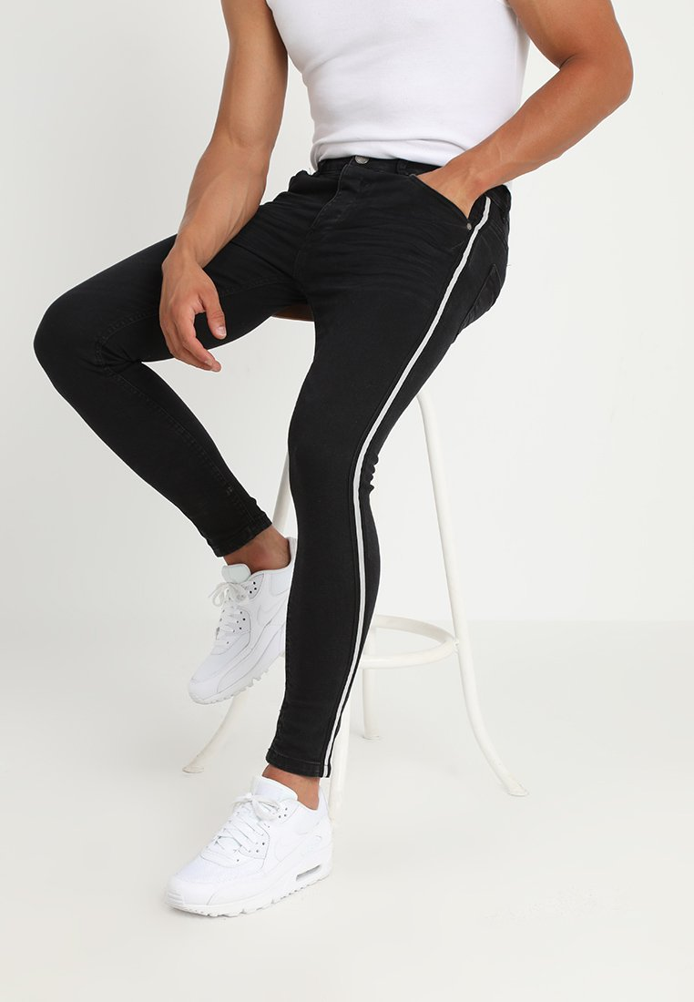 Brave Soul RONNIE - Jeansy Skinny Fit - charcoal