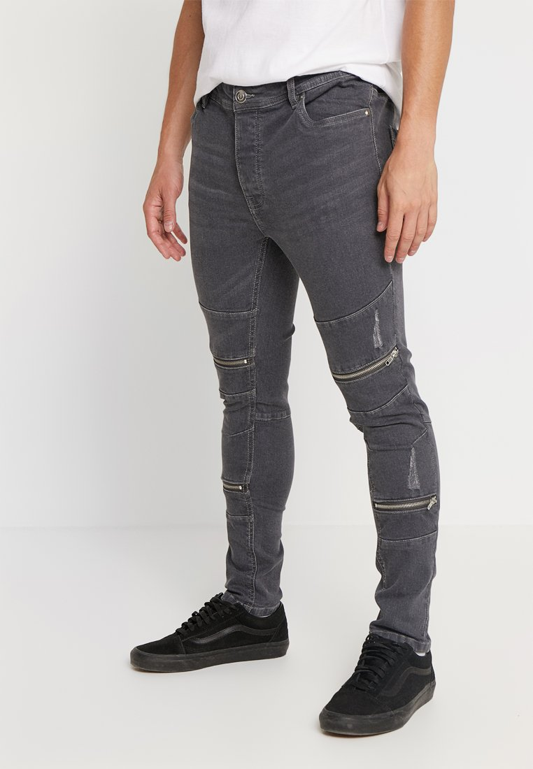 Brave Soul - ELBA - Slim fit jeans - grey