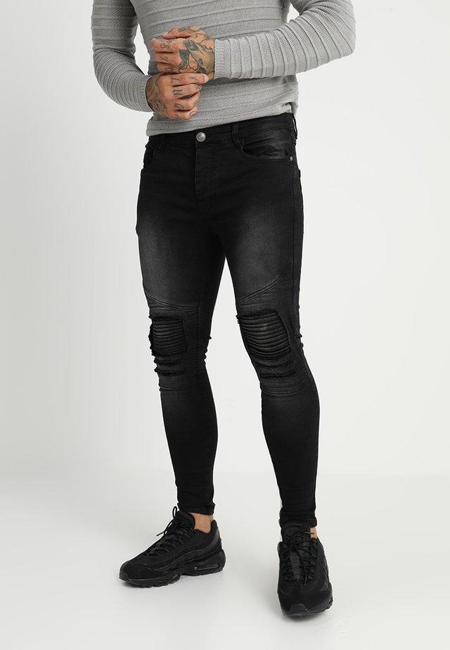 BIKERCHAR - Skinny džíny - charcoal