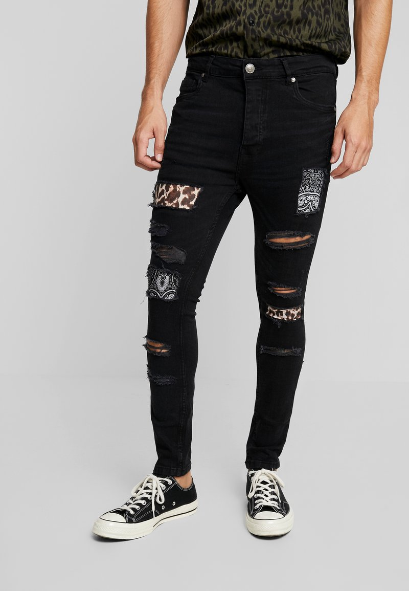 Brave Soul - CILLIAN - Jeans Skinny Fit - charcoal