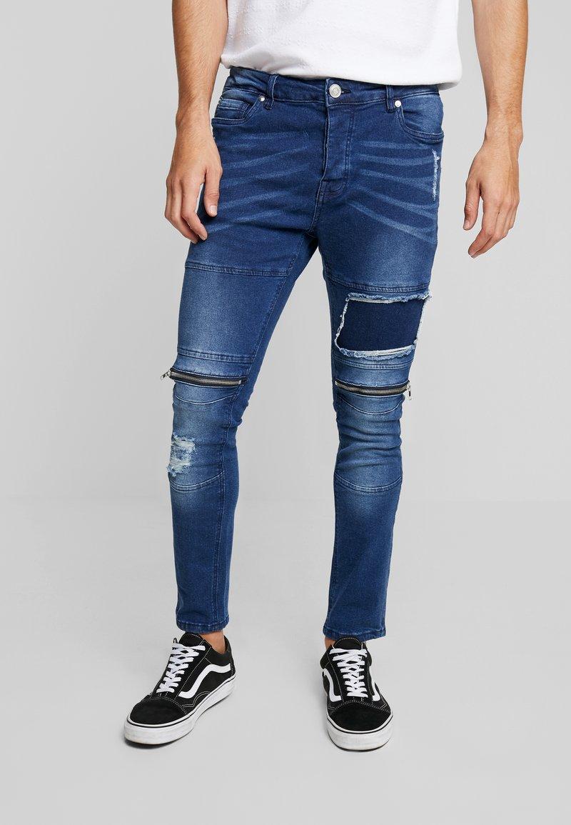 Brave Soul - BERN - Jeans Skinny Fit - blue denim
