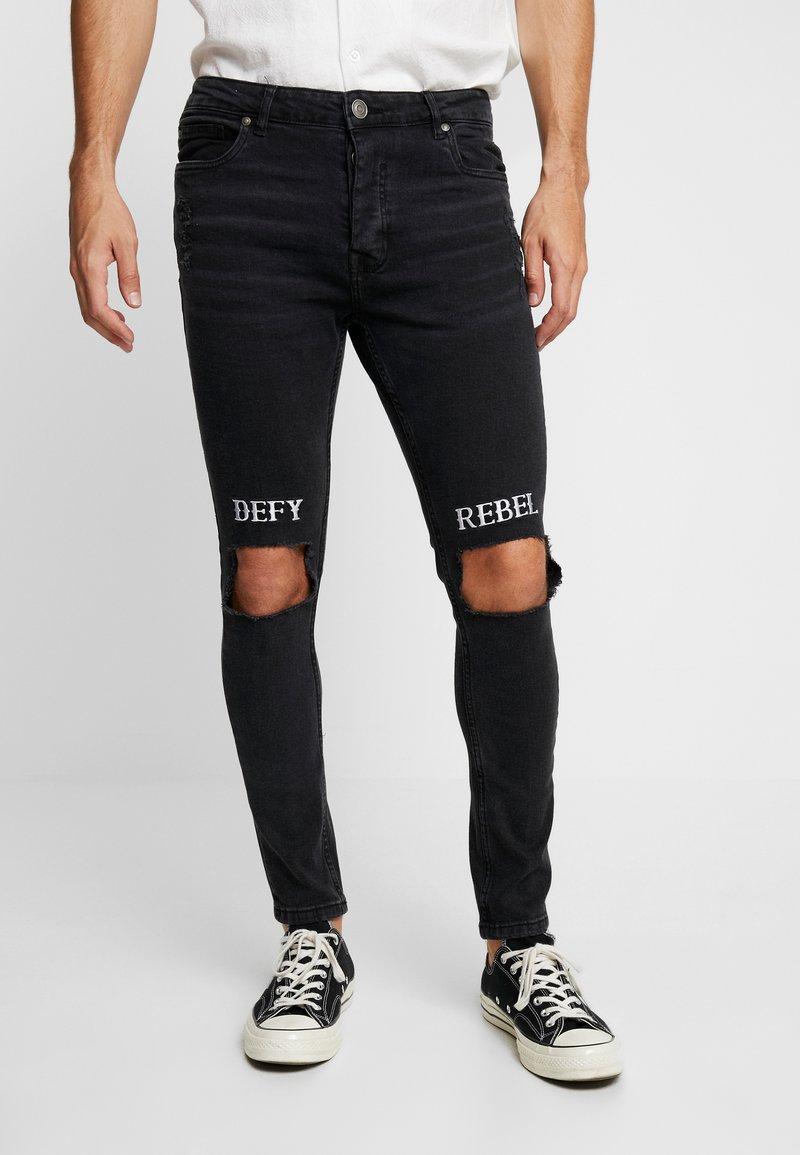 Brave Soul - FLOYD - Jeans Skinny Fit - charcoal