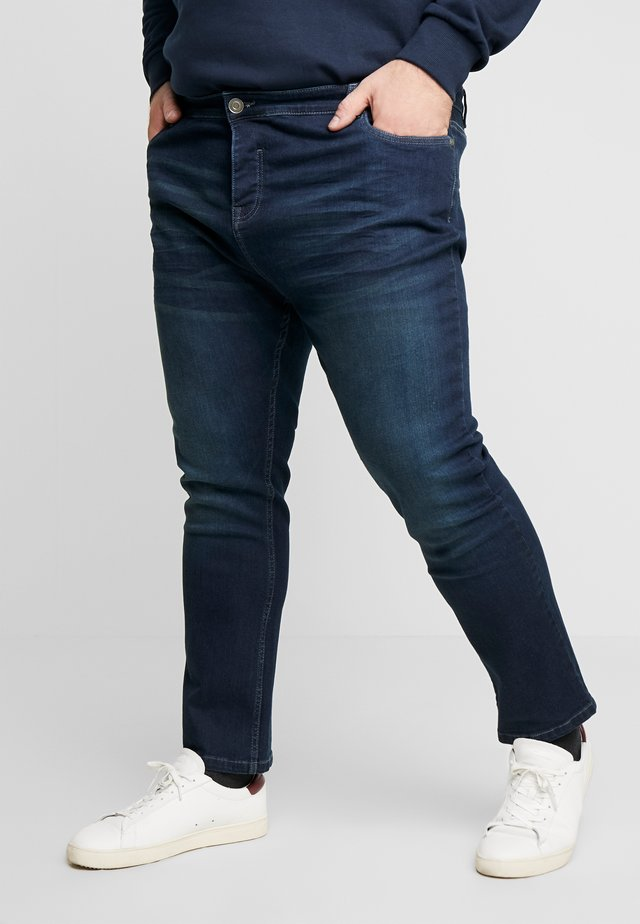 IBAKA - Džíny Slim Fit - dark blue wash