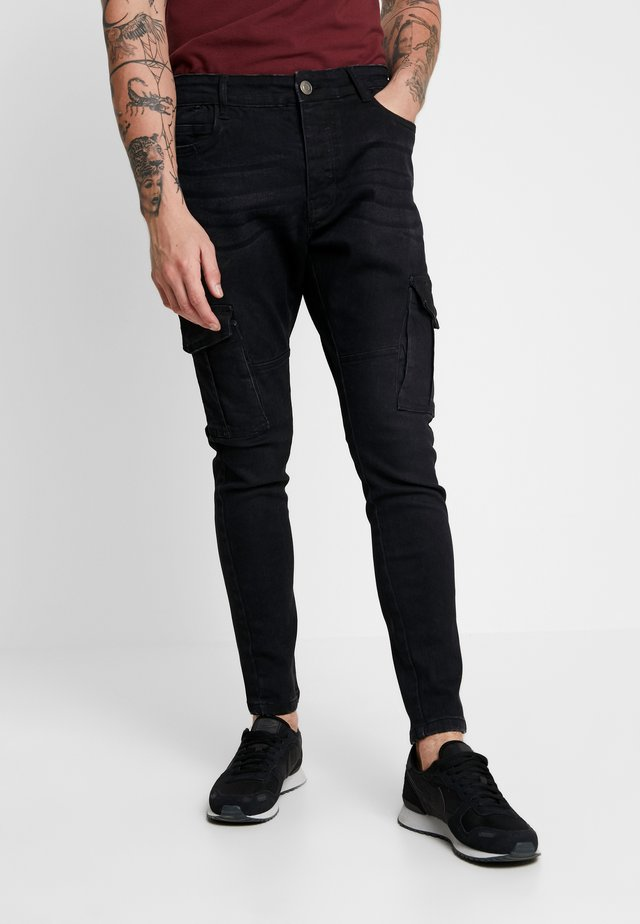 FRANCIS - Jeans slim fit - charcoal wash
