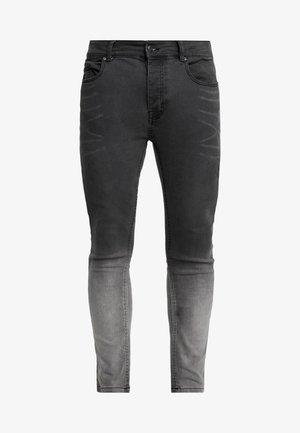 CLARK - Jeans Skinny Fit - grey dip dye