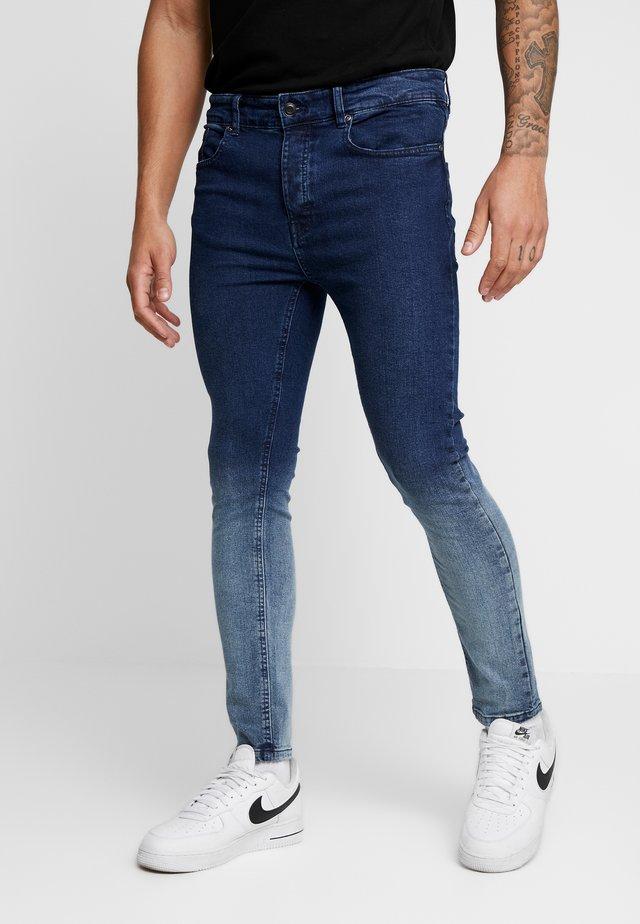 CLARK - Jeans Skinny Fit - blue dip dye