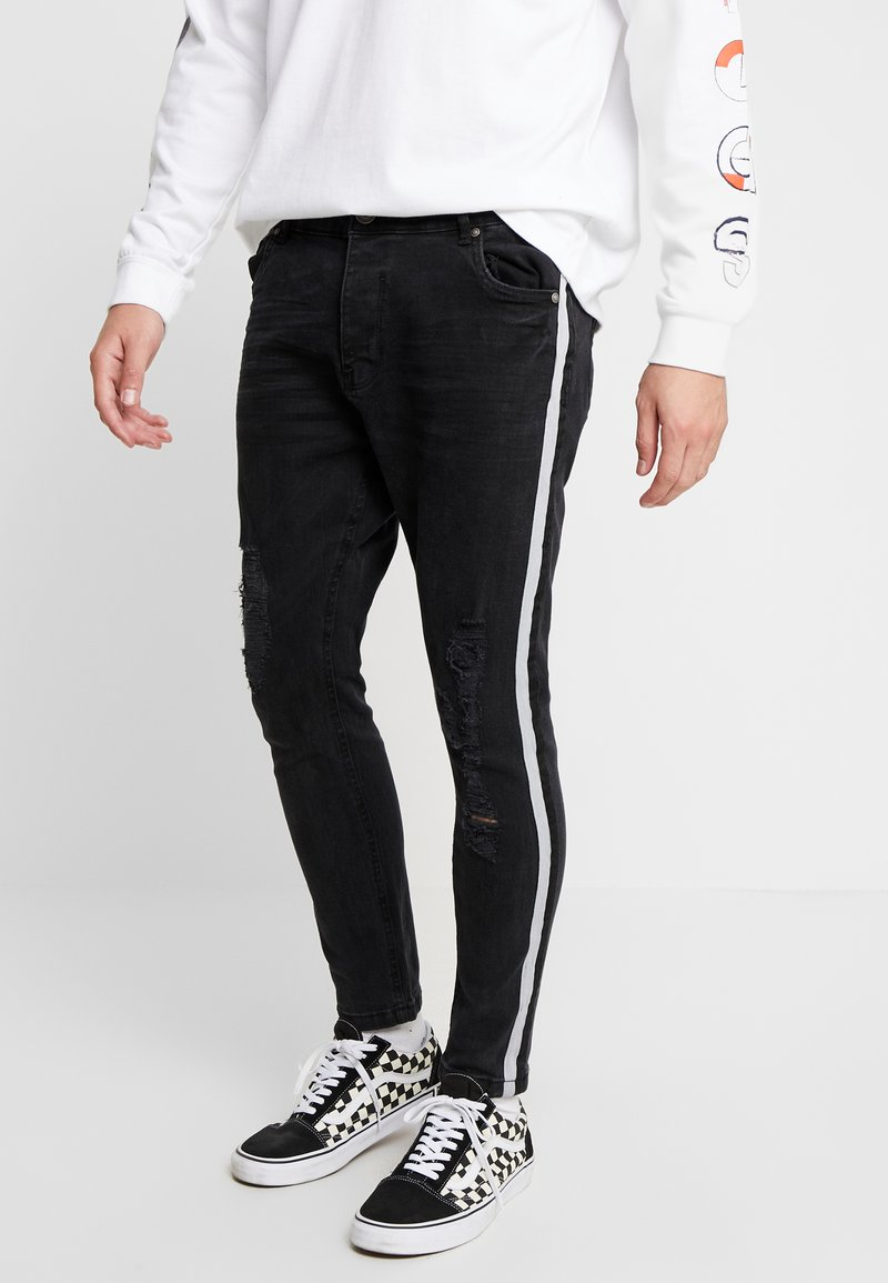 Brave Soul - RONNIERIP - Jeans Skinny Fit - charcoal wash