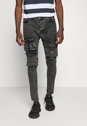 PERUACID - Jeans Skinny Fit - charc acid wash