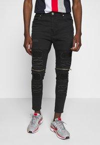 Brave Soul - RUBINSTRIPE - Jeans Skinny - charcoal wash - 0