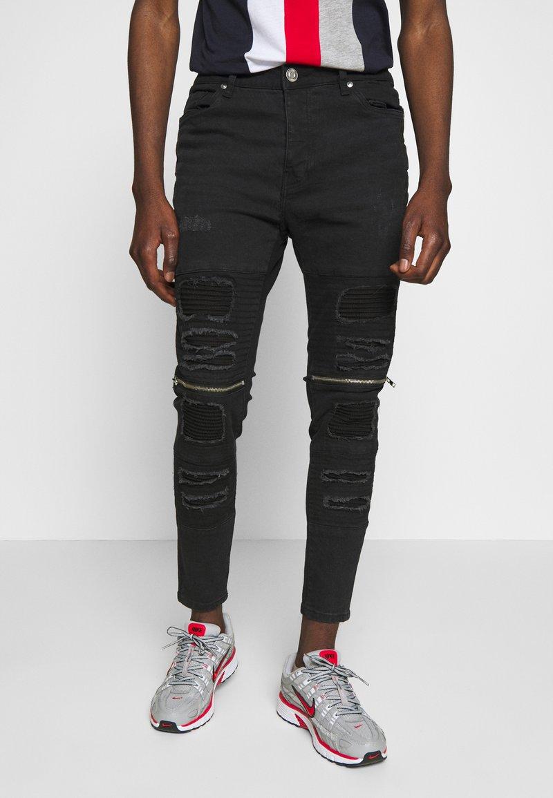 Brave Soul - RUBINSTRIPE - Jeans Skinny - charcoal wash