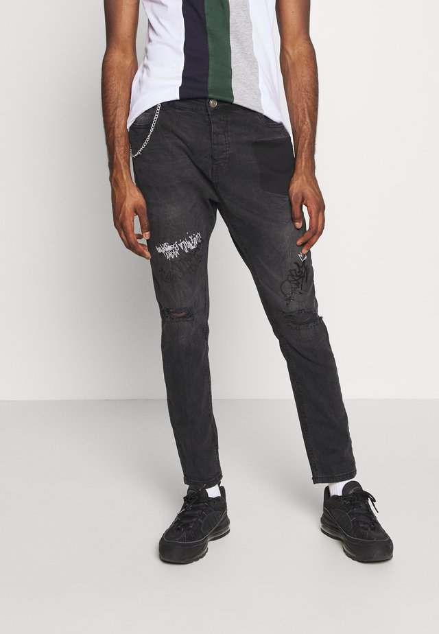 LARS - Skinny džíny - dark charcoal