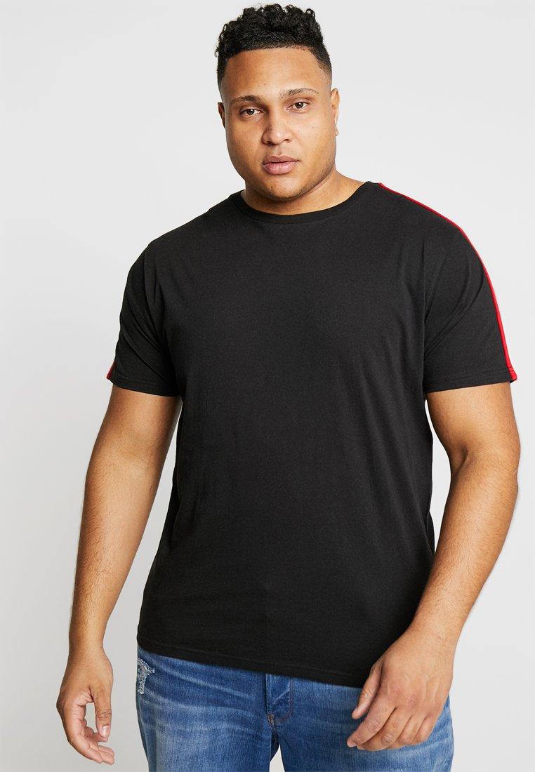 Brave Soul - REFLECT - Print T-shirt - black/red/white