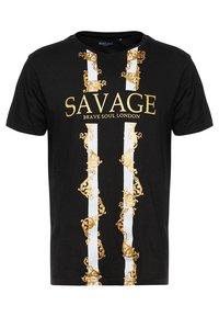 Brave Soul - SAVAGE - T-shirt con stampa - black - 3