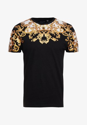 SCROLL - T-shirt z nadrukiem - black