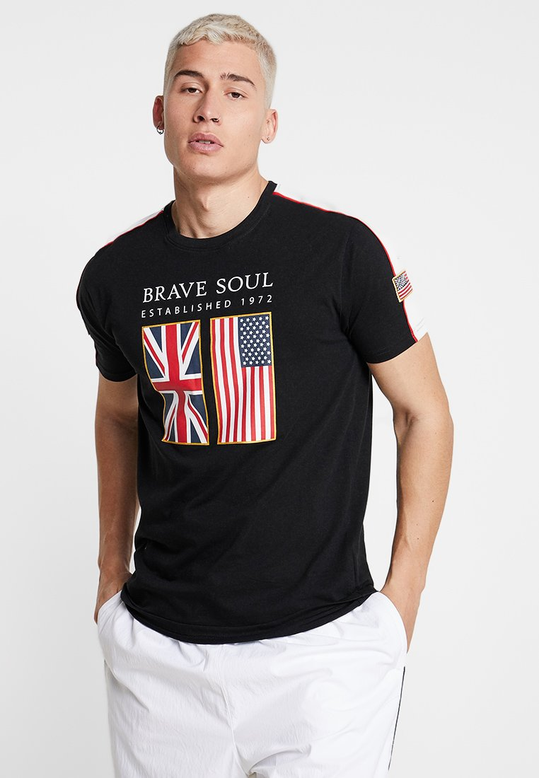 Brave Soul - PATRIOT - T-shirt print - black