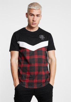 AURA - T-shirt print - red check
