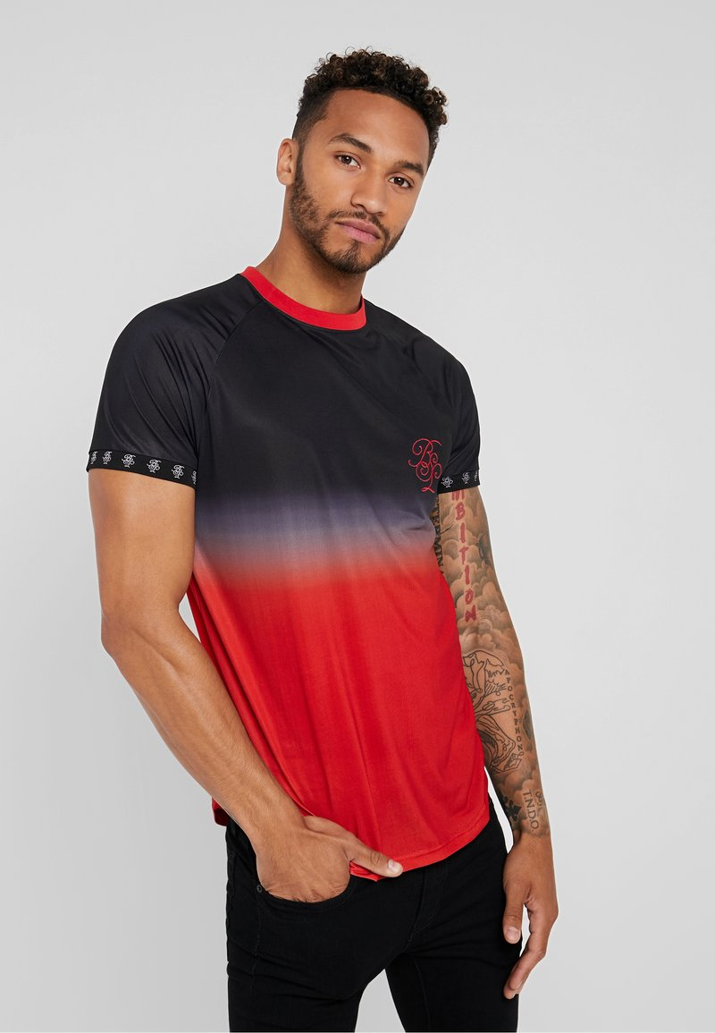 Brave Soul - GRADIENT - T-shirt imprimé - black/red