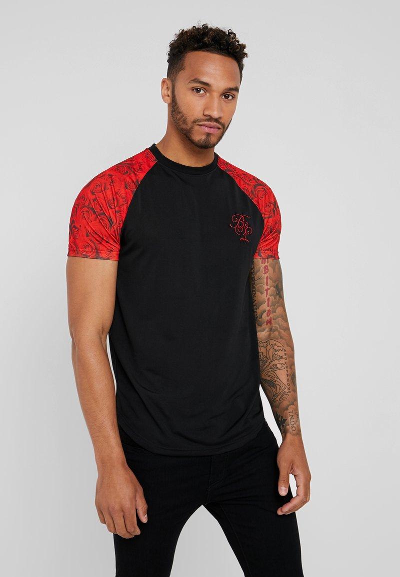 Brave Soul - BLOOM - Print T-shirt - red
