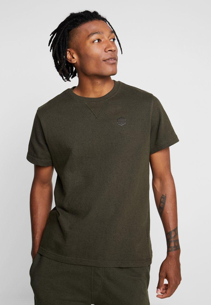 Brave Soul - ALGOR - T-shirts basic - khaki/black