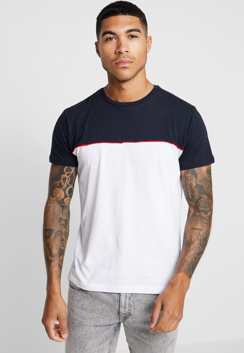 Brave Soul - STANLEY - T-Shirt print - rich navy/optic white/red