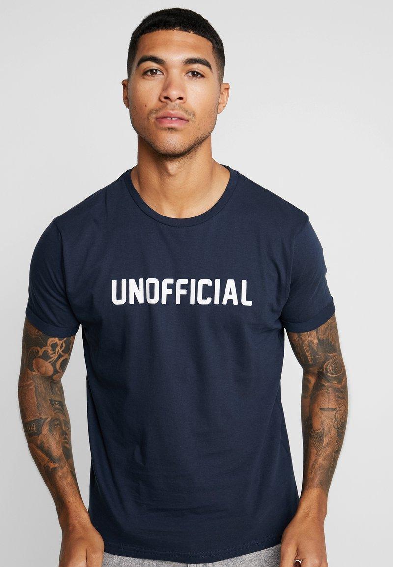 Brave Soul - UNOFFICIA - T-Shirt print - navy/white