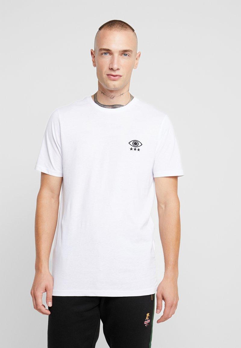 Brave Soul - IRIS - Print T-shirt - white/black