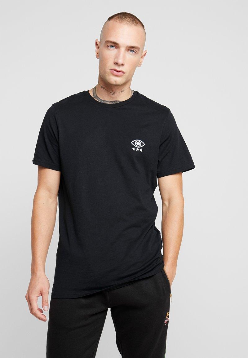 Brave Soul - IRIS - Print T-shirt - black/white