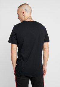 Brave Soul - IRIS - Print T-shirt - black/white - 2