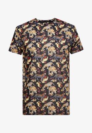FLOURISH - T-shirt con stampa - black/multi