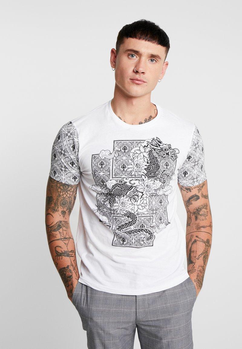 Brave Soul - GOKO - Print T-shirt - optic white/jet black