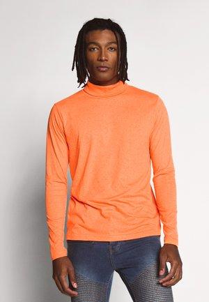 Long sleeved top - orange neon