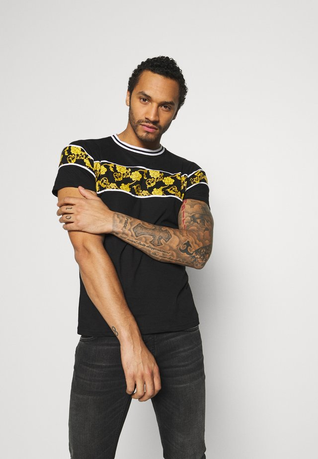 T-shirt med print - black/multi