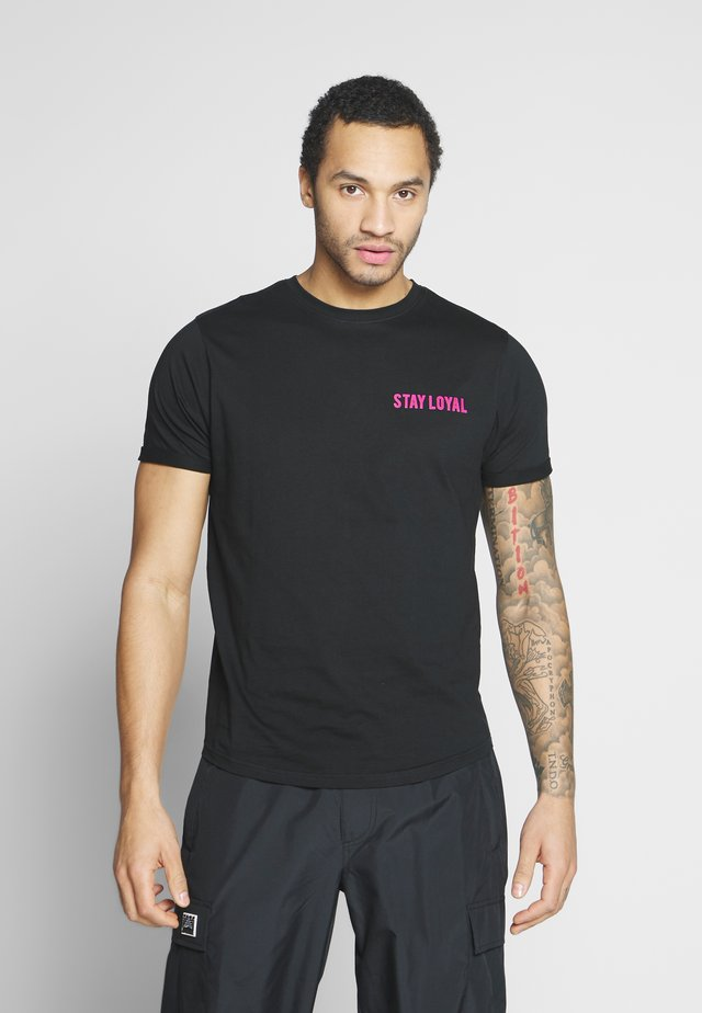 RITZY - T-shirt z nadrukiem - black
