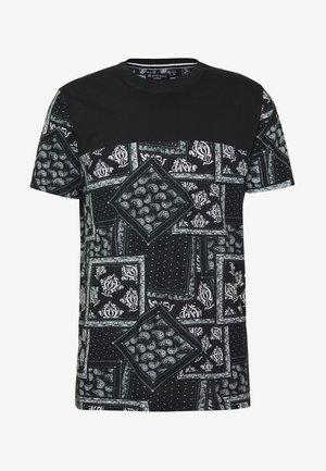 ESELLATE - T-shirt print - black/white