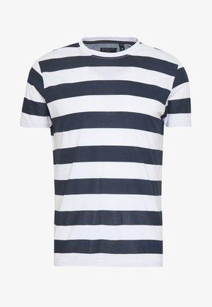 LUMMING - Print T-shirt - navy/ white