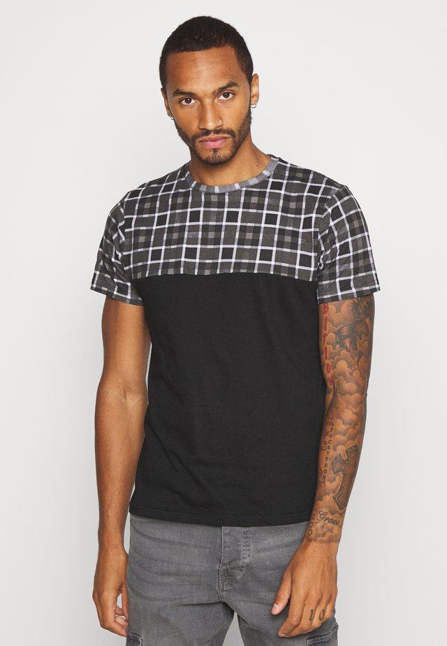 VARO - T-shirt z nadrukiem - black/grey