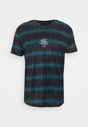WAVE - T-shirt print - black/ blue