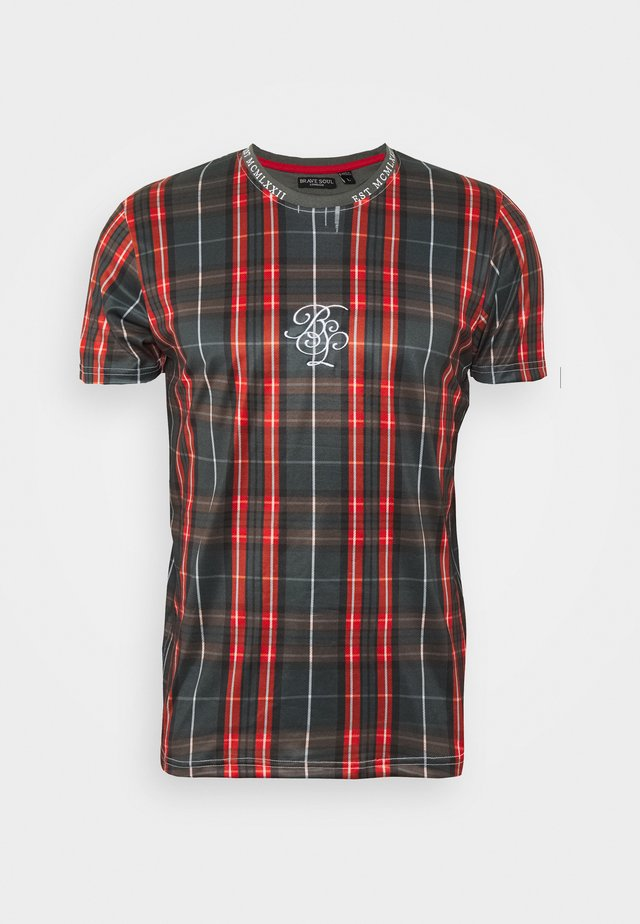 SCOTCH - T-shirts print - black/ red