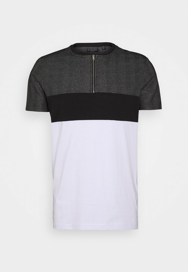 TURBOT - T-Shirt print - white/ black