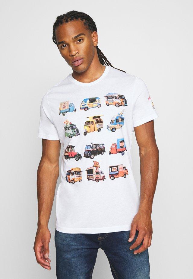 FOODX - T-shirt print - optic white