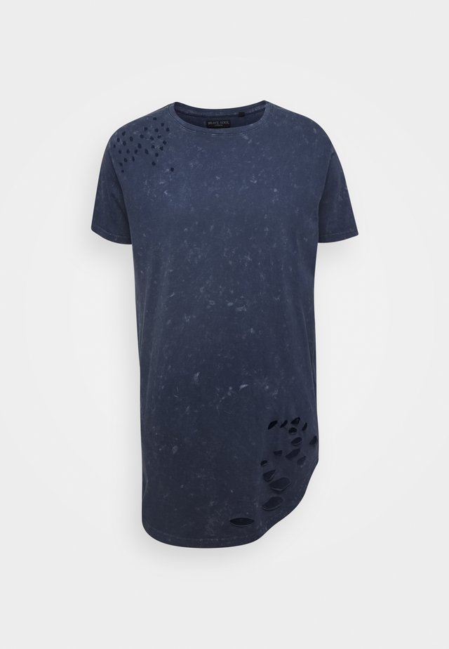 GENKO - T-Shirt print - blue acid wash